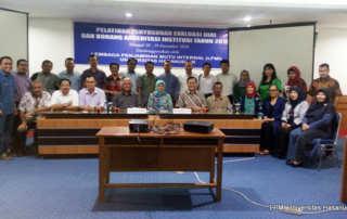 Pelatihan Penyusunan Evaluasi Diri dan Borang Akreditasi Institusi Tahun 2018